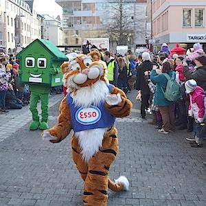 ESSO TIGER ToonWalk Nürnberg 01-02-14 walkact event promotion 8 © TIGER-OFFICE.NET