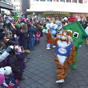 ESSO TIGER ToonWalk Nürnberg 01-02-14 walkact event promotion 9 © TIGER-OFFICE.NET