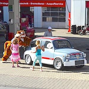 ESSO Station Hofgeismar Strassenfest Festzug Hessentag 2015 07-06-15 52 Fiat Abarth 1000 TCR Gr. 2 1970 © TIGER-OFFICE.NET