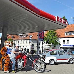 ESSO Station Hofgeismar Strassenfest Festzug Hessentag 2015 07-06-15 54 Harley Davidson costum made chopper © TIGER-OFFICE.NET